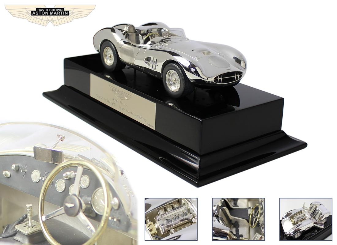 Silver Aston Martin 1:18 scale DBR2