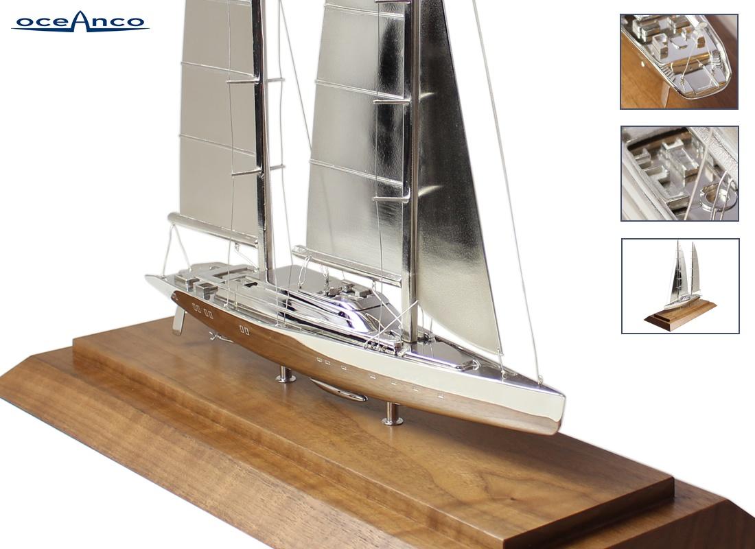 Silver Model Yacht