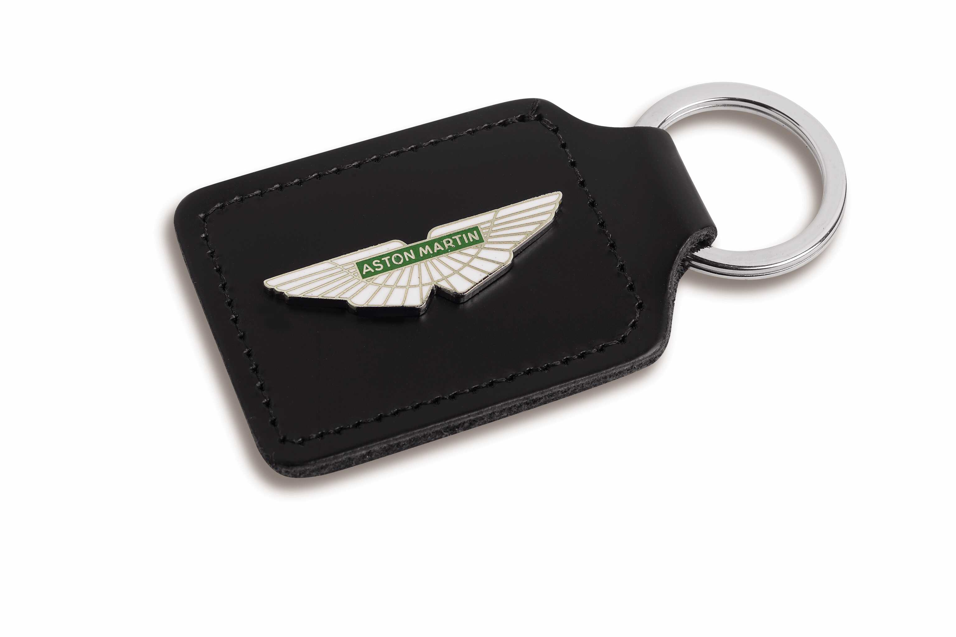 Aston Martin logo leather key fob